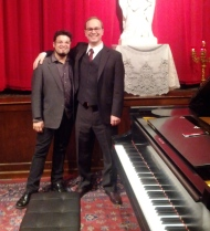 Louis Goldford with pianist Michael McElvain.